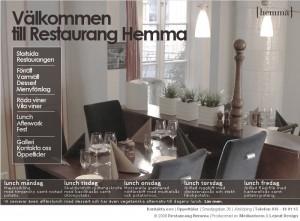 Restaurang Hemma i Jönköping